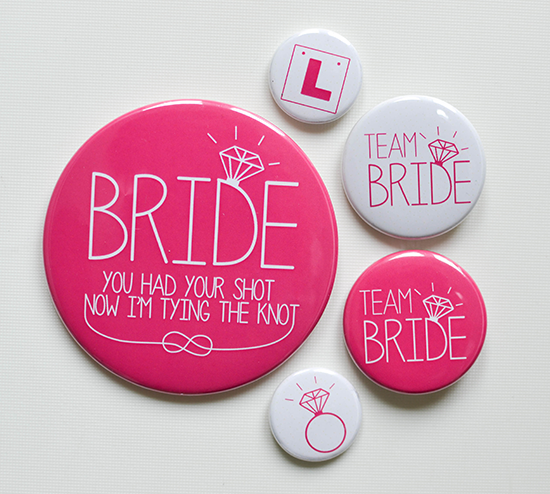Bride to be Hen Night Badges