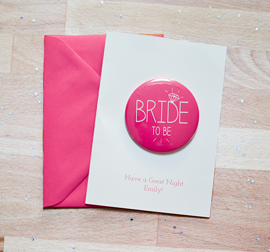 Hen Night Card with Badge
