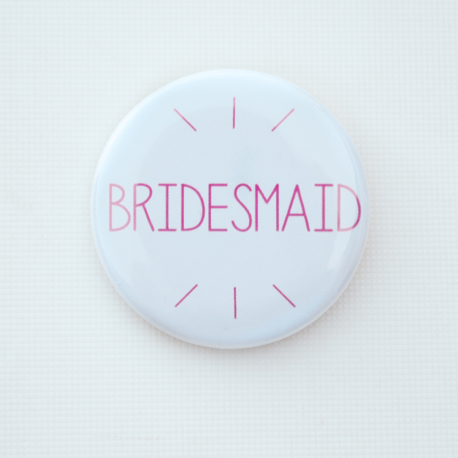 Bridesmaid White Badge